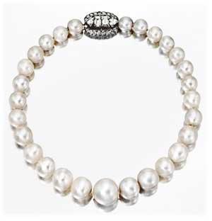ウィンザー公爵夫人が所有していた天然真珠ネックレス